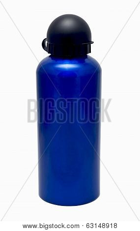 Isolated Blue Thermos