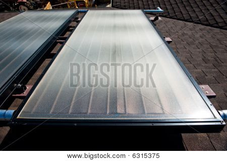 A roof top solar water heating system