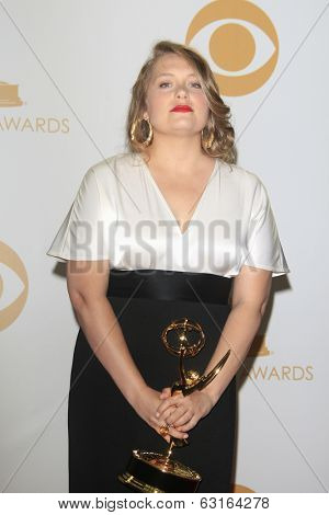 LOS ANGELES - SEP 22: Merritt Wever in the press room during the 65th Annual Primetime Emmy Awards held at Nokia Theater L.A. Live on September 22, 2013 in Los Angeles, California
