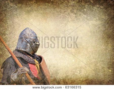 Armored Knight - Retro Postcard