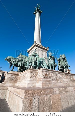 Millennium Monument In Heroes Square (hosok Tere)