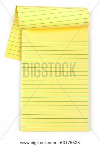 outdoor yellow pad on an isolated white background
