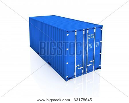 Blue container.