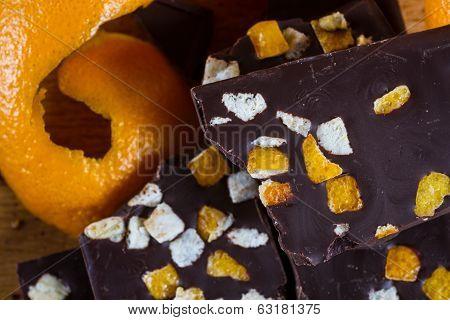 Delicious Dark Chocolate  And Orange