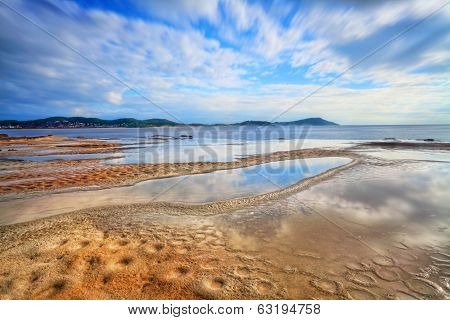 Water Reflections At Terrigal Haven, Nsw Australia
