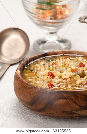 Lentil Soup In A Bowl On The Table