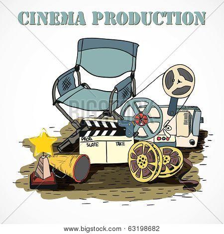 Cinema production decorative poster