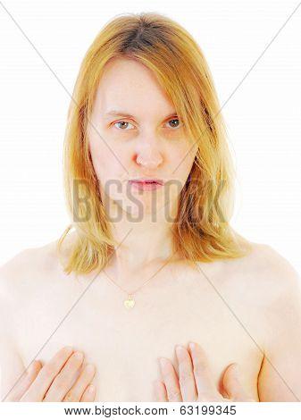 Beautiful Caucasian Woman With Longing Look