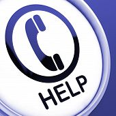 Help Button Shows Call For Advice Or Assistance