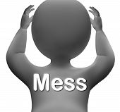 image of mayhem  - Mess Character Showing Chaos Disorder And Confusion - JPG