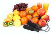 Fitness equipment with fruits
