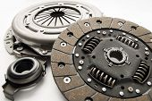 stock photo of clutch  - Clutch kit car on a white background