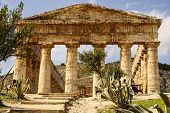 Greek Temple In The Ancient City Of Segesta, Sicily