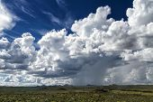 Rain Clouds Over The Namibian Savanna