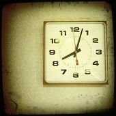 Instagram style image of an electric wall clock