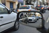pic of differential  - Photography car congestion in the city - differential focus