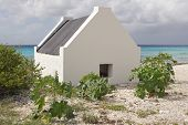 stock photo of slave  - Historic slave huts - JPG