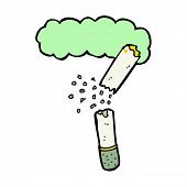 stock photo of marijuana cigarette  - cartoon broken marijuana cigarette - JPG