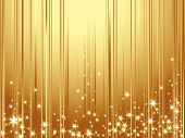 stock photo of new years  - Gold background for New Year with stars - JPG