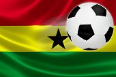 Soccer Ball Leaps Out Of Ghana's Flag
