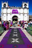 Purple Holy Week Carpet, Antigua, Guatemala
