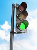 stock photo of traffic signal  - Traffic lights  - JPG