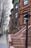 stock photo of entryway  - Views of classic brownstones - JPG