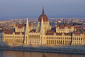 picture of hungarian  - Hungarian parliament in sunset Budapest - JPG