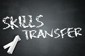 picture of transfer  - Blackboard Image with Skills Transfer related wording - JPG