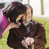 picture of take responsibility  - Senior woman with daughter taking care of her - JPG