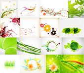 Nature green abstract backgrounds mega collection. 16 items