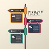 Arrow Signpost  Infographics Design