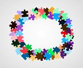 Color Puzzle Pieces