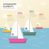 Sailboat And Sea Infographics Design