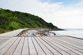 Wooden bridge near the sea