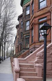 picture of brownstone  - Views of classic brownstones - JPG