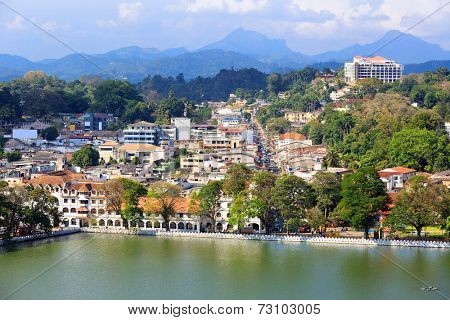 View on Kandy City, Sri Lanka