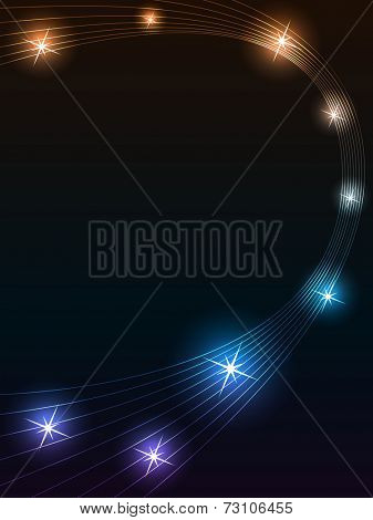 Abstract star trace background with copy space.