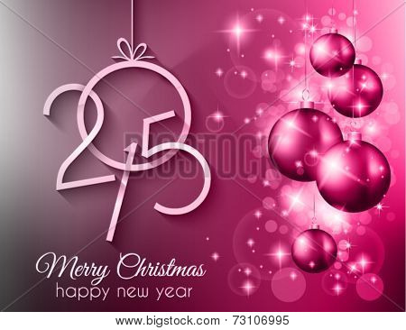 2015 Merry Christmas and happy new year background with a lot of glitter and colorful lights