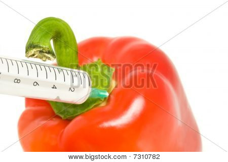 Genetically Modified Products - Pepper And Syringe