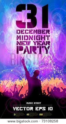 Party poster, vector