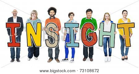 Group of Diverse People Holding Insight