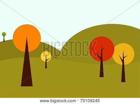 Geometrical Autumn Landscape