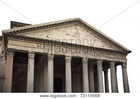 The Pantheon is a building in Rome, Italy, commissioned by Marcus Agrippa during the reign of Augustus (27 BC - 14 AD) and rebuilt by the emperor Hadrian about 126 AD.