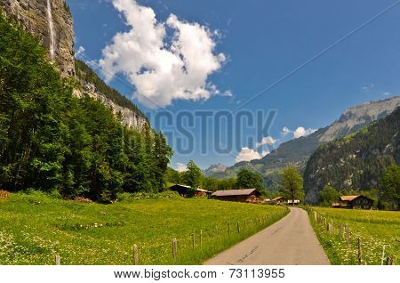 Mountain Road and Beautiful Landscape