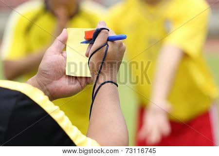 Referee Soccer Recorded Player Foul