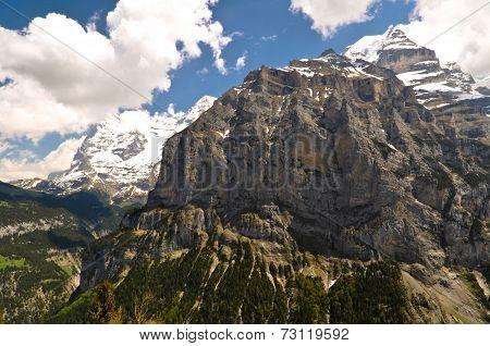 Rocky Mountain in Swiss Alps