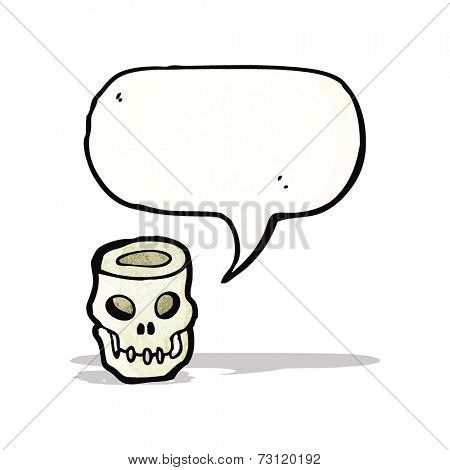 cartoon hollow skull