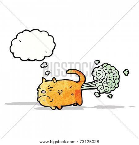 cartoon cat farting