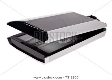 Flatbed scanner isolated on a white background